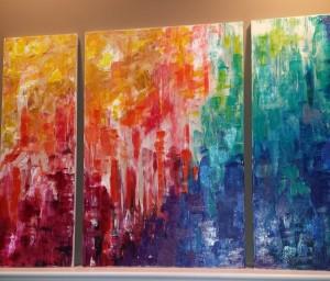 3 panel rainbow